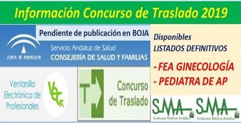 Publicada en la web del SAS la propuesta de listado definitivo del Concurso de Traslados de FEA de Ginecología y Pediatra de AP.