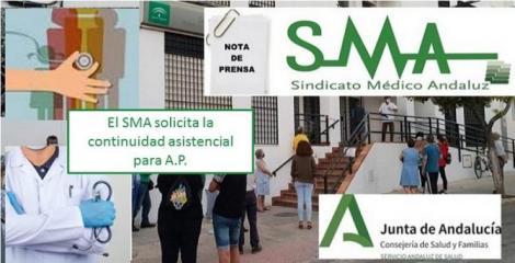 Situación de la Atención Primaria en Andalucía: El SMA solicita la continuidad asistencial como paso imprescindible.