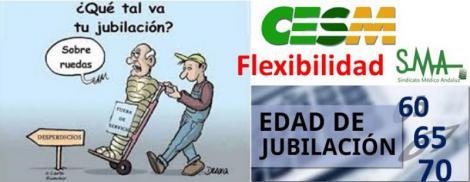 CESM aboga por flexibilizar la jubilación entre los 60 y los 70 años.