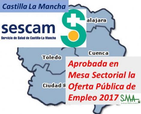 Castilla-La Mancha pacta una nueva OPE sanitaria con 2.204 plazas, 652 para facultativos.
