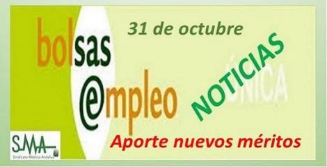 El próximo 31 de octubre finaliza el plazo para el registro de nuevos méritos en Bolsa Única del SAS.