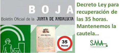 Publicado el decreto ley de recuperación de las 35 horas para los empleados de la Junta.