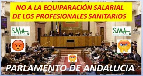 El Parlamento rechaza pedir a la Junta que equipare los sueldos de los profesionales sanitarios con los del resto de España.