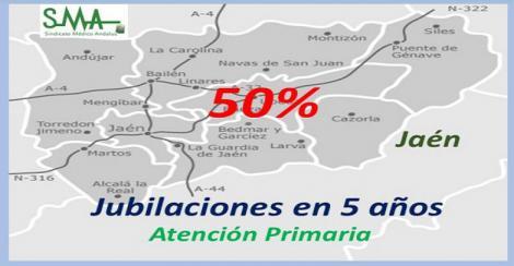 El Sindicato Médico de Jaén alerta de que la mitad de los médicos de familia se jubilarán en un máximo de 5 años.