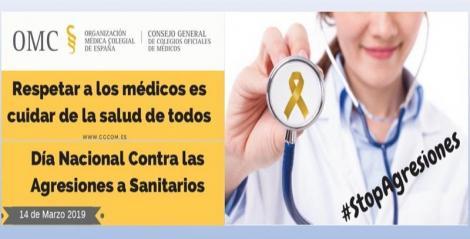 """""""Ante las agresiones a sanitarios, tolerancia cero"""". Mañana 14 de marzo se conmemora el Día Nacional Contra las Agresiones a Sanitarios."""