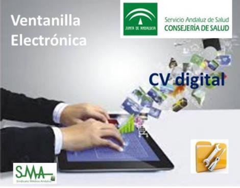 Ventanilla Electrónica del Servicio Andaluz de Salud: CV Digital.