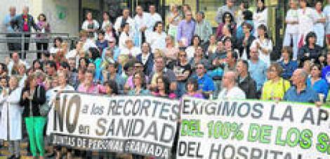 Movilización del personal sanitario en Granada pidiendo más medios al SAS para salir del