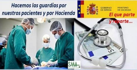Guardias médicas: muy rentables… para Hacienda.