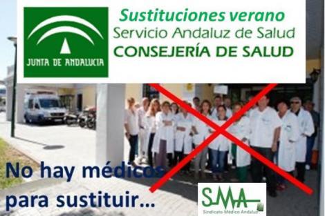 Respuesta al Servicio Andaluz de Salud sobre las contrataciones estivales de médicos.