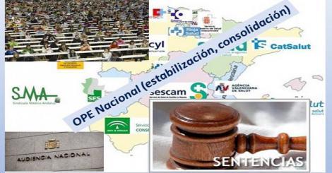 OPE Nacional en sanidad: la Audiencia Nacional rechaza su paralización. Los sindicatos a la espera.