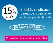 Descuento del 15% en libros y ebooks para nuestros afiliados. Ponte en contacto con nosotros y accede desde aquí a la web de Ed. Méd. Panamericana.