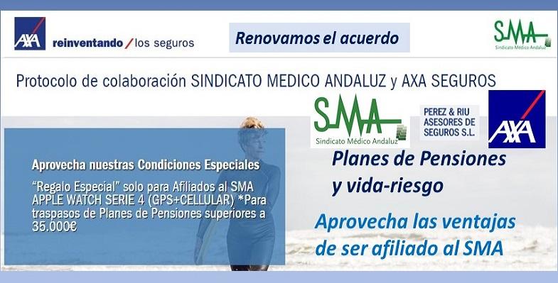 Renovamos el acuerdo con AXA para el 2018. Planes de Pensiones y seguros vida-riesgo